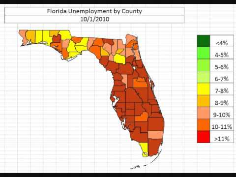 Florida Unemployment By County October 2013 video