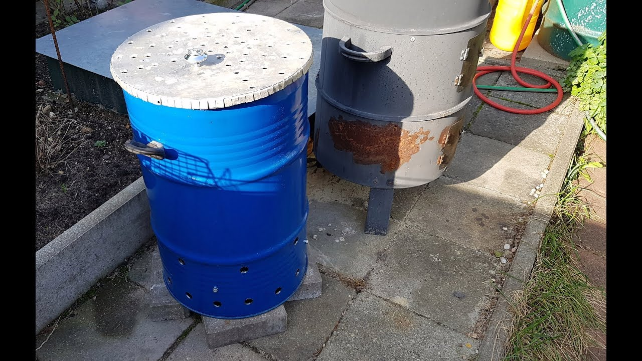 Печка из бочки для сжигания мусора своими руками для 51