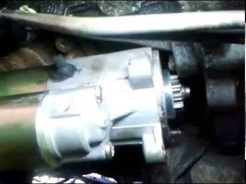 Replace the Starter motor in a 2001 Ford. F-150 4x4. w/4.6L engine.