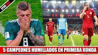 5 Campeones HUMILLADOS en PRIMERA RONDA
