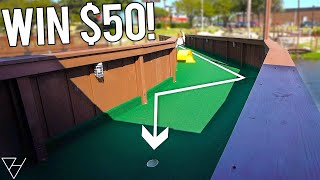 Win $50 With A Mini Golf Hole In One Here!