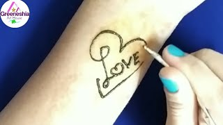 How to make a Beautiful Love Tattoo
