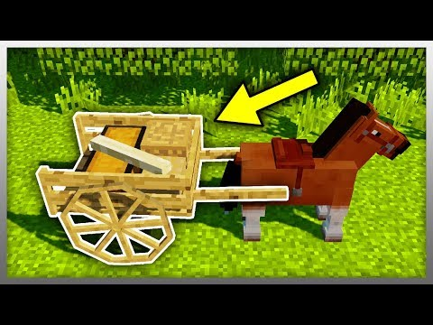 ✔️ Attach a TRAILER to ANY Horse! (Minecraft Mod)
