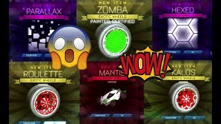 *OMG* BIGGEST DONATION EVER ON ROCKET LEAGUE!! PAINTED ZOMBAS, MYSTERY DECALS, AND MORE!! (Part 2)