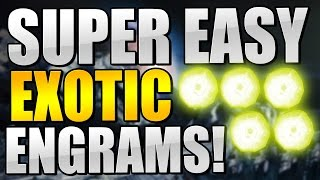 Destiny : BEST EXOTIC ENGRAM FARM! MAKE YOUR STRANGE COINS RIGHT BACK!! (EASY ASS EXOTICS!)