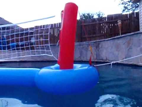 Customer reviews intex pool volleyball game youtube for Replacement volleyball net for swimming pool