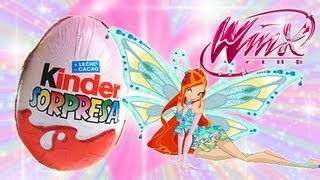 Kinder Surprise Eggs Unboxing Winx Club