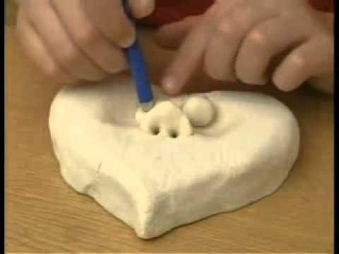 Соленое тесто (лепим сердца)