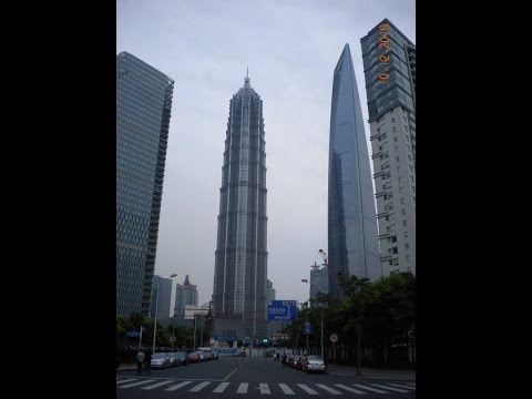 Outside and Inside Views of the Jin Mao Tower in Downtown Shanghai, China