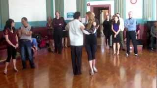 Argentine Tango Class Steps Review with Slow Motion www.tangonation.com   1/27/2013