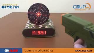 Hướng Dẫn Cài Đặt Đồng Hồ Báo Thức Bia Bắn Súng Gun Alarm Clock - Asun.vn