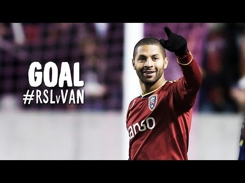 GOAL: Alvaro Saborio's curler finds the top left corner | Real Salt Lake vs Vancouver Whitecaps