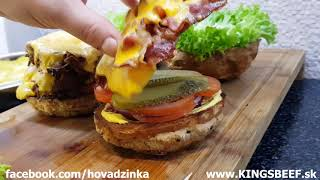 KING'S BEEF - Barbecue and Burger - DOUBLE KING a BACON CHEESEBURGER