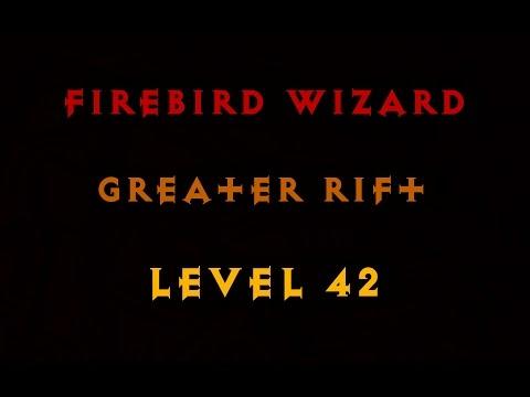 Diablo 3 Firebird Wizard Greater Rift 42 (Solo) #5 EU