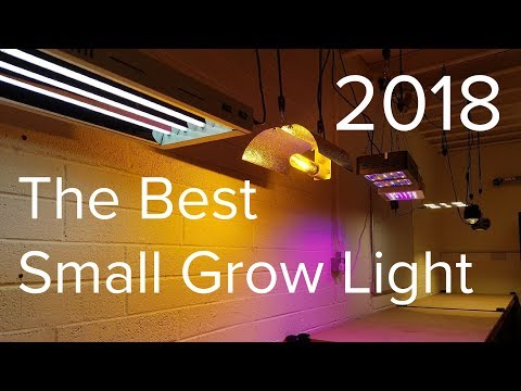 The Best Small Grow Light 2018 - PAR output, spectrum and cost comparison