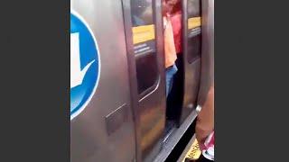 Man gets his Boner Stuck in Train Doors - Prank