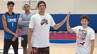 3-Point Basketball RACE Challenge vs. LA Clippers & Jesser
