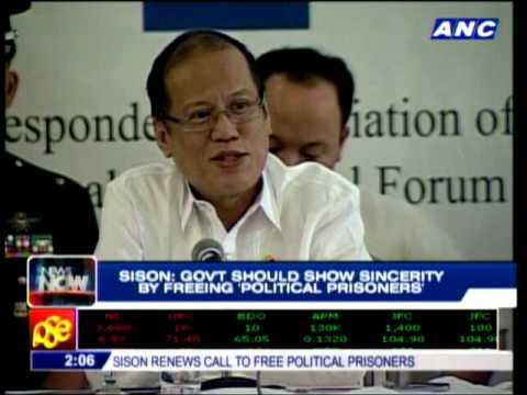 Joma Sison wants 400 prisoners freed