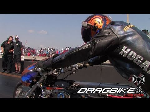 Top Fuel Nitro Dragbike Korry Hogan goes 254mph in 1 4 Sets National Record
