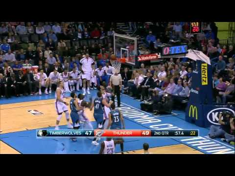 Minnesota Timberwolves vs Oklahoma City Thunder | March 13, 2015 | NBA 2014-15 Season