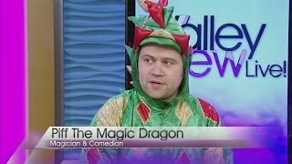 Piff The Magic Dragon guest hosts on Valley View Live!