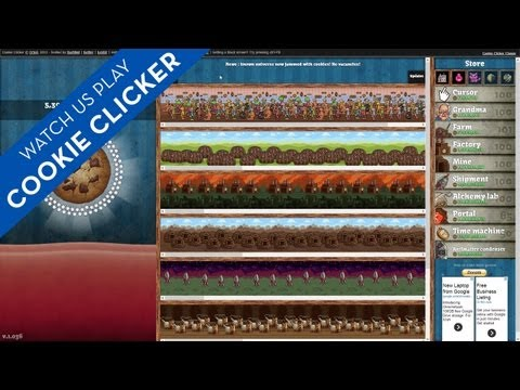 Watch Us Play Cookie Clicker