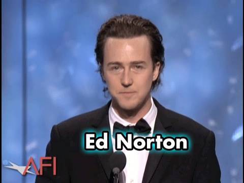 Edward Norton Salutes Robert De Niro at AFI Life Achievement Award