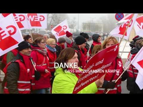 Warnstreik in Schwerin – Wir kämpfen für die Stufe 6!