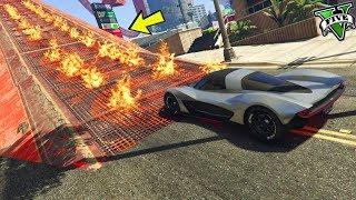 GTA 5 ONLINE 🐷 MEGA RAMPA INFUOCATA !!! 🐷 GARE STUNT 🐷N*233🐷 GTA 5 ITA 🐷 DAJE !!!
