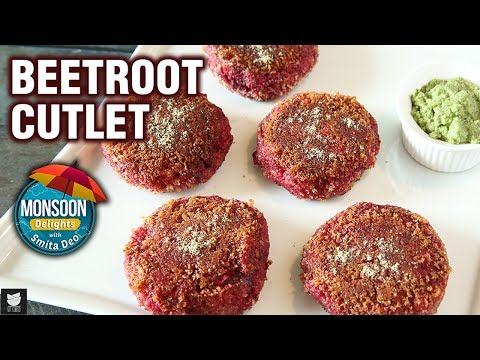 Beetroot Cutlet Recipe - How To Make Aloo Beetroot Pattice At Home - Monsoon Special - Smita