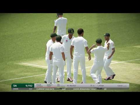 South Africa vs Pakistan, 2nd Test || Day 2 Highlights 2019||Dbc17 Gameplay Highlights