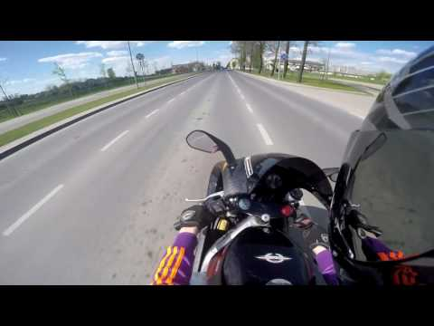 aprilia rs 125 full power & yzf r125/ top speed/burnouts/ Gopro Hero 4