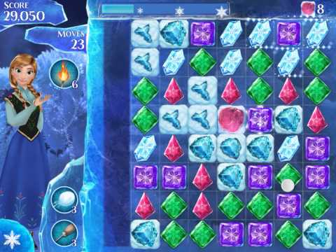 Frozen Free Fall Level 151 Live Action Play Walkthrough