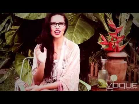 Behind the scenes with Adriana Lima & Vogue Eyewear ( S/S 2015)