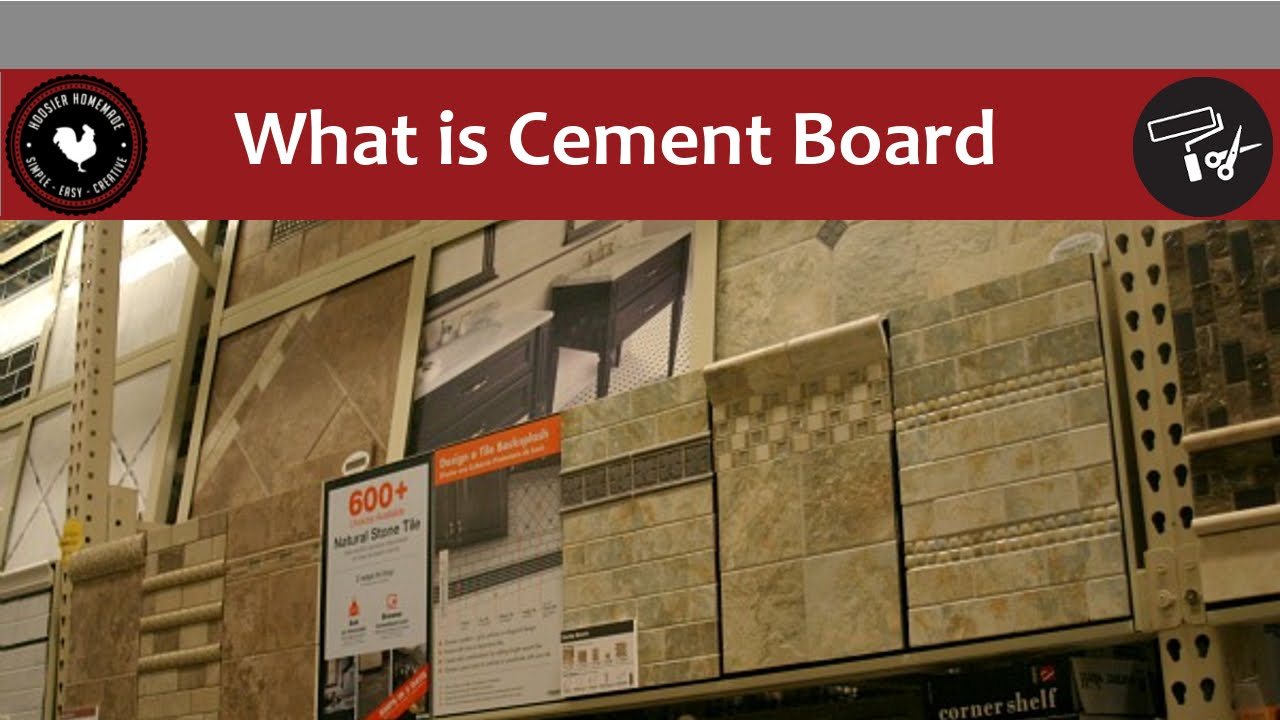 What is Cement Board and how do I use it? - YouTube