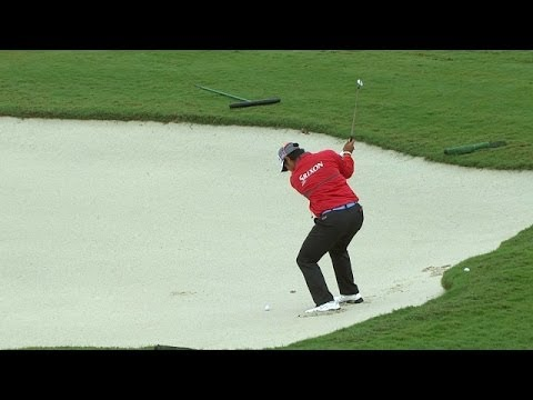 Hideki Matsuyama holes out bunker shot for birdie at Cadillac