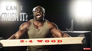 CAN I CRUSH IT?   2 x 4 Wood | Kali Muscle