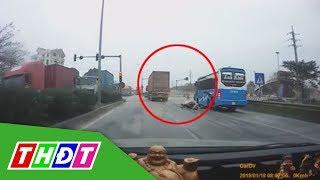 Truy đuổi xe container gây tai nạn như phim hành động | THDT