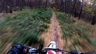 First ride on PitBike in Forest, Moscow