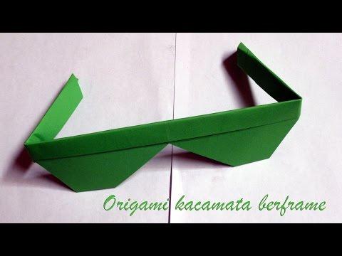 Cara membuat origami kacamata berframe easy sunglasses origami