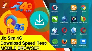 Jio Sim 4G Download Speed Test in Mobile Browsers - Data Dock