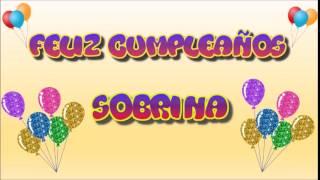 Tarjeta Animada De Cumpleaños Para Sobrina