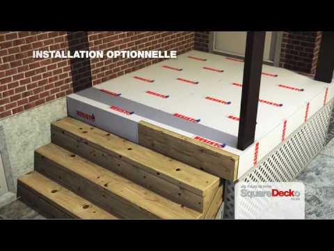 Les tuiles de patio galerie pour le recouvrement de b ton for Recouvrement patio bois