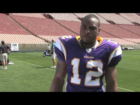 Upper Deck Interviews Percy Harvin, NFL No. 22 Draft Pick Video