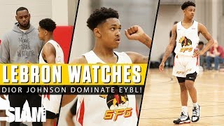 LeBron James Watches Dior Johnson TAKE OVER EYBL Indy! 😤