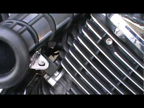 2008 Yamaha V Star 1100 Hypercharger Install Part 3.mpg