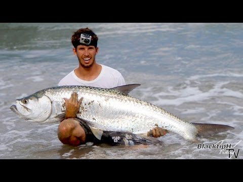 Surf Fishing - Big Tarpon!!