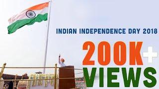 Indian Independence Day 2018 - PM Modi hoisting Flag Ceremony 15-08-2018