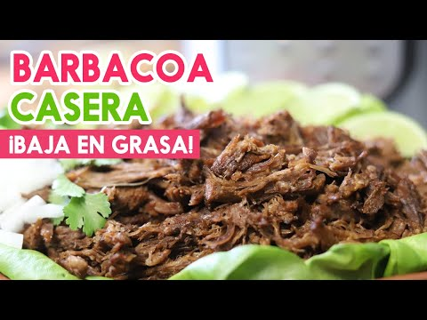 Barbacoa de res ¡Sin Grasa!♥Botanas para el Super Bowl♥Versión Saludable♥Mexican Barbacoa Recipe
