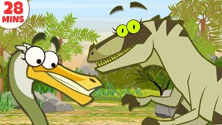 Dinosaurs Cartoons For Kids To Learn & Enjoy | Learn Dinosaur Facts by HooplakidzTV